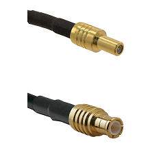 SLB Male on RG142 to MCX Male Cable Assembly