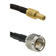 SLB Male on RG142 to Mini-UHF Male Cable Assembly