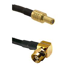 SLB Male on RG188 to SMC Right Angle Female Cable Assembly