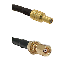 SLB Male on RG188 to SMC Female Bulkhead Cable Assembly