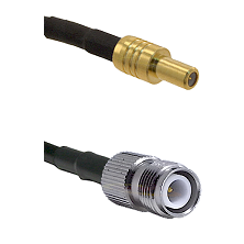 SLB Male on RG316DS Double Shielded to TNC Reverse Polarity Female Cable Assembly
