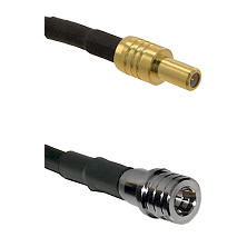 SLB Male on RG400 to QMA Male Cable Assembly