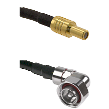 SLB Male on RG400 to 7/16 Din Right Angle Male Cable Assembly