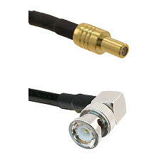 SLB Male on RG400 to BNC Right Angle Male Cable Assembly