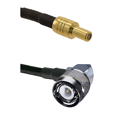 SLB Male on RG400 to C Right Angle Male Cable Assembly