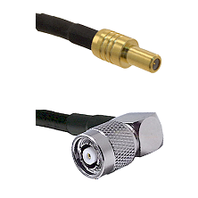 SLB Male on RG400 to TNC Reverse Polarity Right Angle Male Cable Assembly