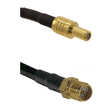 SLB Male on RG400 to SMA Reverse Polarity Female Cable Assembly