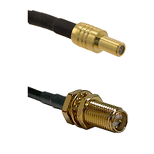 SLB Male on RG400 to SMA Reverse Polarity Female Bulkhead Cable Assembly