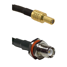 SLB Male on RG400 to TNC Reverse Polarity Female Bulkhead Cable Assembly