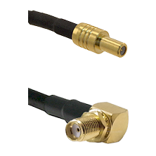 SLB Male on RG400 to SMA Reverse Thread Right Angle Female Bulkhead Cable Assembly