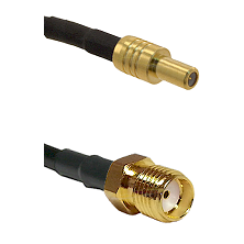 SLB Male on RG400 to SMA Reverse Thread Female Cable Assembly