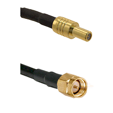 SLB Male on RG400 to SMA Reverse Thread Male Cable Assembly