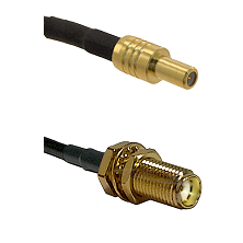 SLB Male on RG400 to SMA Female Bulkhead Cable Assembly