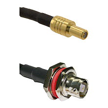 SLB Male on RG58C/U to C Female Bulkhead Cable Assembly