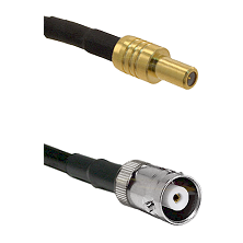 SLB Male on RG58C/U to MHV Female Cable Assembly