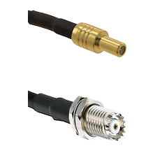 SLB Male on RG58C/U to Mini-UHF Female Cable Assembly