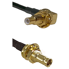 SLB Male Bulkhead on LMR100 to 10/23 Female Bulkhead Cable Assembly