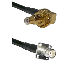SLB Male Bulkhead on LMR100 to BNC 4 Hole Female Cable Assembly