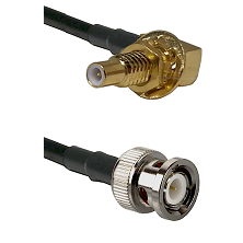 SLB Male Bulkhead on LMR100 to BNC Male Cable Assembly