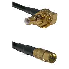 SLB Male Bulkhead on LMR100 to MMCX Female Cable Assembly