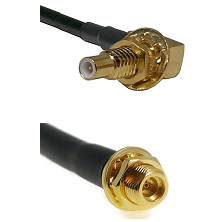 SLB Male Bulkhead on LMR100 to MMCX Female Bulkhead Cable Assembly