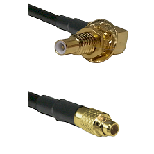 SLB Male Bulkhead on LMR100 to MMCX Male Cable Assembly
