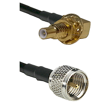 SLB Male Bulkhead on LMR100 to Mini-UHF Male Cable Assembly