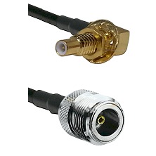 SLB Male Bulkhead on LMR100 to N Female Cable Assembly