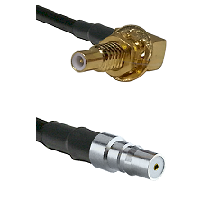 SLB Male Bulkhead on LMR100 to QMA Female Cable Assembly