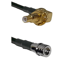 SLB Male Bulkhead on LMR100 to QMA Male Cable Assembly