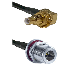SLB Male Bulkhead on LMR-195-UF UltraFlex to N Reverse Polarity Female Bulkhead Coaxial Cable Assemb