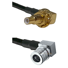 SLB Male Bulkhead on LMR-195-UF UltraFlex to QMA Right Angle Male Cable Assembly