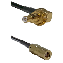 SLB Male Bulkhead on LMR-195-UF UltraFlex to SLB Female Cable Assembly