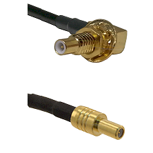 SLB Male Bulkhead on LMR-195-UF UltraFlex to SLB Male Cable Assembly