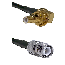 SLB Male Bulkhead on LMR200 to TNC Reverse Polarity Female Cable Assembly