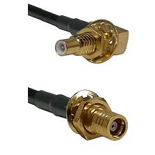 SLB Male Bulkhead on LMR200 UltraFlex to SMB Female Bulkhead Cable Assembly