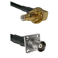 SLB Male Bulkhead on RG142 to C 4 Hole Female Cable Assembly