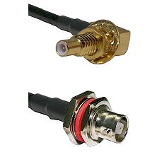 SLB Male Bulkhead on RG142 to C Female Bulkhead Cable Assembly