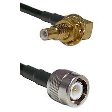 SLB Male Bulkhead on RG142 to C Male Cable Assembly
