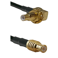 SLB Male Bulkhead on RG142 to MCX Male Cable Assembly