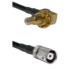 SLB Male Bulkhead on RG142 to MHV Female Cable Assembly