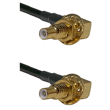 SLB Male Bulkhead on RG188 to SLB Male Bulkhead Cable Assembly