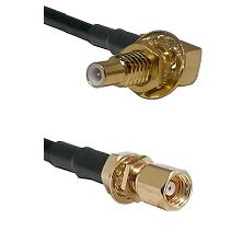 SLB Male Bulkhead on RG188 to SMC Female Bulkhead Cable Assembly