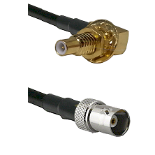 SLB Male Bulkhead on RG400 to BNC Female Cable Assembly