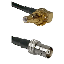 SLB Male Bulkhead on RG400 to C Female Cable Assembly