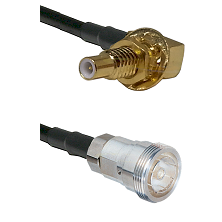 SLB Male Bulkhead on RG58C/U to 7/16 Din Female Cable Assembly