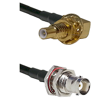 SLB Male Bulkhead on RG58C/U to BNC Female Bulkhead Cable Assembly