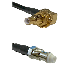 SLB Male Bulkhead on RG58C/U to FME Female Cable Assembly