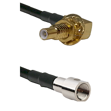 SLB Male Bulkhead on RG58C/U to FME Male Cable Assembly
