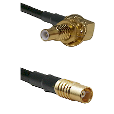 SLB Male Bulkhead on RG58C/U to MCX Female Cable Assembly